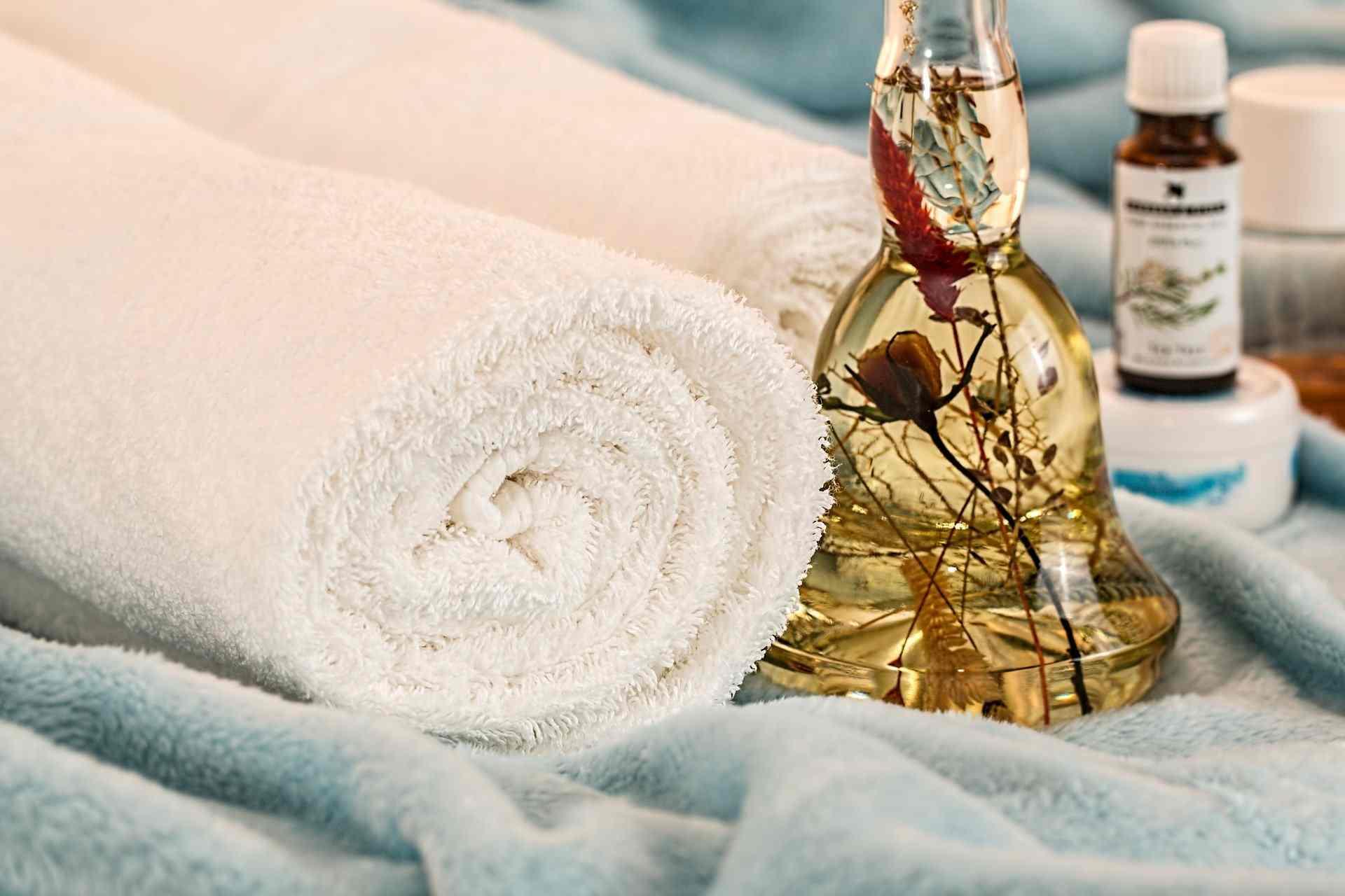 Massage-handdukar-olja