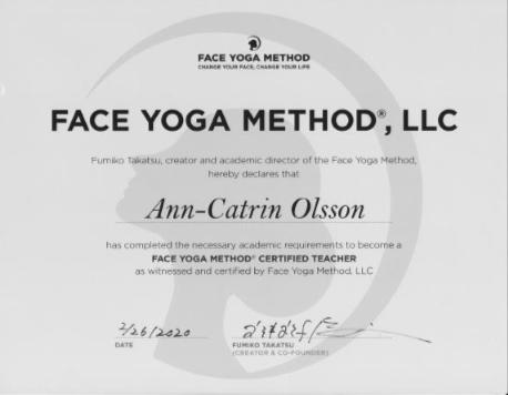 Diplom-Faceyoga Ann-Catrin Olsson